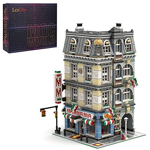 Mysta Creatieve straataanzicht modulaire bouwstenen, MOC-39491, ontworpen en gelicentieerd door Magdatoys, 4449…