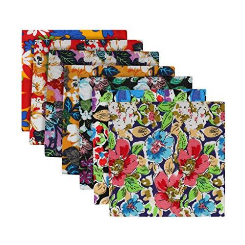 7PCS Cotton Craft Fabric Bundle Patchwork Squares Quilting Sewing Patchwork DIY
