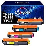 Uniwork TN241 TN245 Reemplazo para Brother TN-241 TN-245 Compatible con Brother DCP-9020CDW HL-3140CW DCP-9015CDW HL-3170CDW HL-3150CDW MFC-9140CDN MFC-9330CDW MFC-9340CDW MFC-9130CW (Paquete de 4)