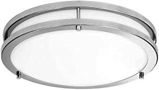 LB72165 LED Flush Mount Ceiling Light, 16 inch, 23W (200W Equivalent) Dimmable 1610lm,..