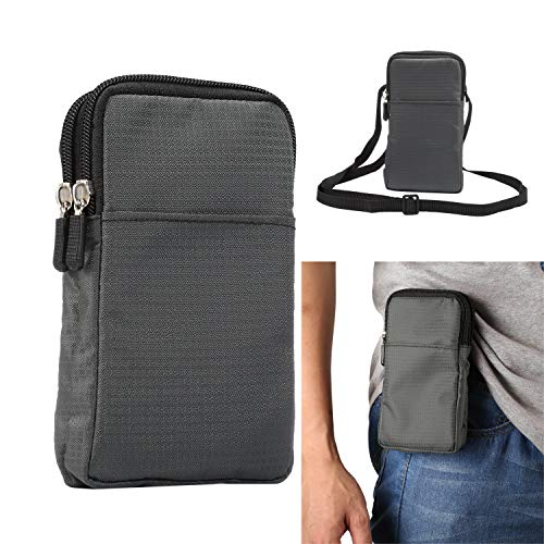 Riñonera deportiva para correr, pequeñas bolsas cruzadas para hombres y mujeres, 15,9 cm, funda para teléfono móvil, bolsa de hombro con clip para