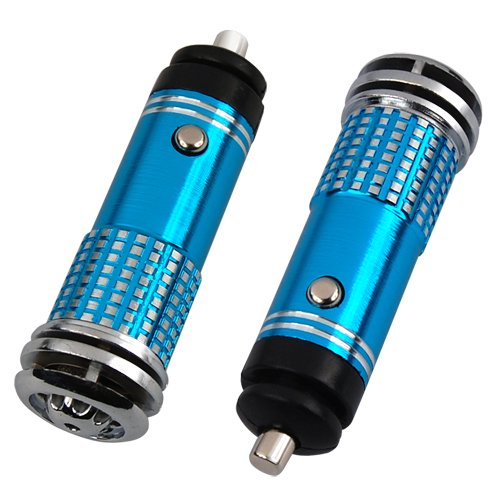 Lowest Prices! Mini Auto Car Fresh Air Purifier/Ionizer Oxygen Bar, 12V, Blue