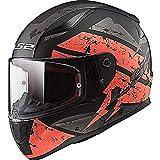 LS2 FF353 Rapid Deadbolt Casque Moto IntÃgral Casque Moto Scooter - Noir/Orange - M(57-58cm)