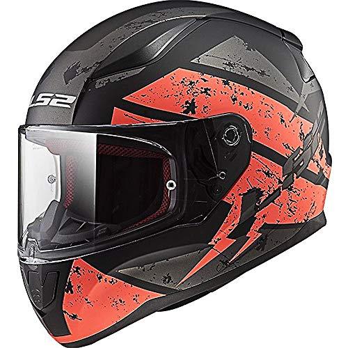LS2 FF353 Rapid Deadbolt Motorradhelm Integralhelm Sturzhelm Helm Schwarz/Orange M(57-58cm)