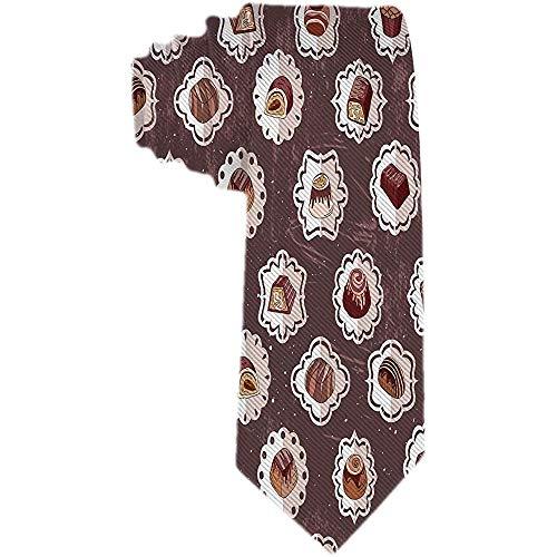 Heren Soorten Chocolade Ties Patroon Zakelijke Formele Ontwerper Neckties