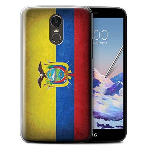 Stuff4® Gel TPU hoes/case voor LG Stylus 3/Stylo 3/K10 Pro/Ecuador/Ecuador/Ecuadoriaans patroon/vlag collectie