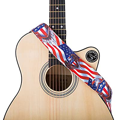 Eagle Shield American Flag Guitar Strap