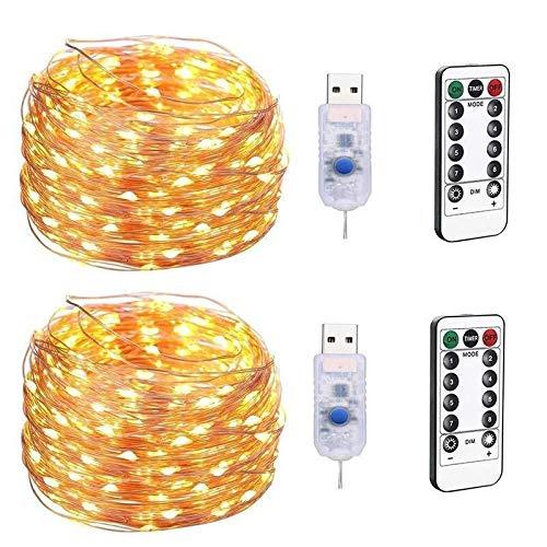 Ltjqsm 20m Cadena luz USB Cobre Alambre Guirnalda Eid Mubarak Ramadan decoración de la decoración de la Fiesta de cumpleaños decoración de la Boda (Color : Green, Size : 20M 200Lights)