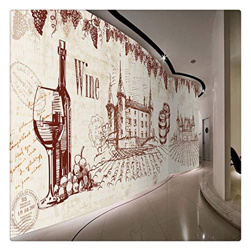 Fotomural Grande 3D Wallpapers Tamaño Personalizado Foto 3D Estéreo Retro Decoración Restaurante Tienda Hotel Wallpaper European Retro Nostalgic Bodega Vino Wallpaper Kt002,150x105Cm
