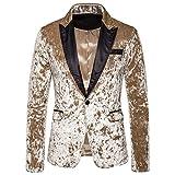 yczx giacche da uomo casual giacche slim fit elegante blazer suit cappotto formale casual top giacche monopetto giacca casual a due bottoni giacca stampa a righe affari matrimonio party 2xl