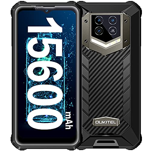 OUKITEL WP15 Móvil Libre Resistente, Batería Grande de 15600 mAh, 5G Dual Sim Rugged Smartphone, 6.52'' Ocho-Núcleos,8GB+128GB Android 11 Telefono Antigolpes, 48MP Triple Cámara movil Resistente, NFC