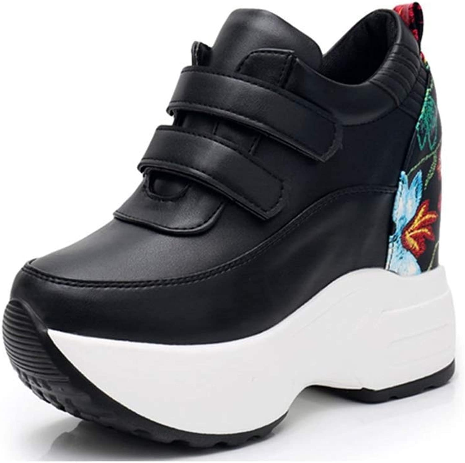 Beautiful - Fashion Womens Wedges Sneakers Fashion Pu Leather Height Increasing Pull On Breathable Casual shoes
