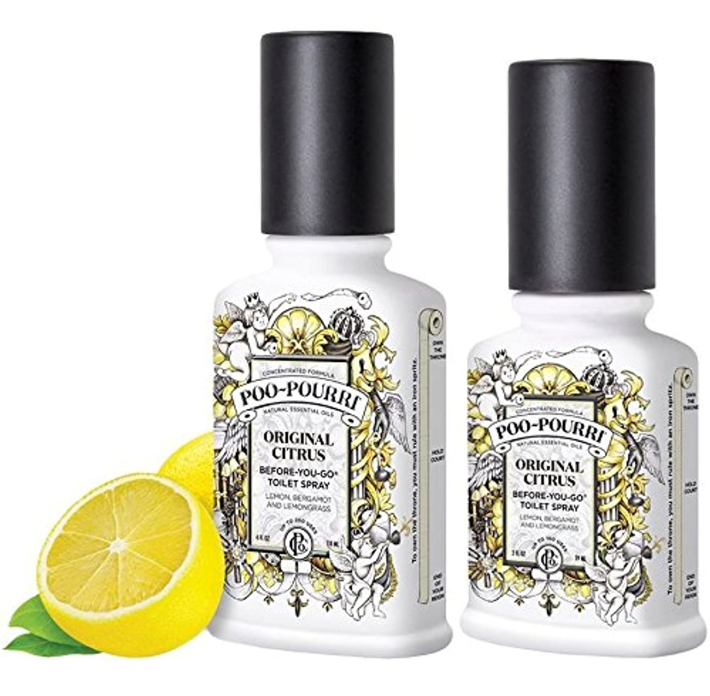 エレメンタルうつカテゴリー(Original) - Poo-Pourri Preventive Bathroom Odour Spray 2-Piece Set, Includes 60ml and 120ml Bottle, Poo-Pourri Original