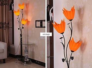 BXZ Lampadaire simple chinois moderne Lampe de table basse Lampe de table verticale,Orange