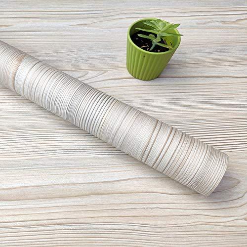 Decorflix Vinilo Papel Adhesivo para Muebles Para forrar amarios mesas estanterías paredes puertas. Vinilo Imitacion Madera Vintage Decorativo Autoadhesivo (Pino Beige Vintage, 60cm x 10 metro