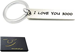 I Love You 3000 Keychain Boyfriend Girlfriend Anniversary Valentines Day Gift Keyring Wife Husband Christmas Gifts Mothers Fathers Day Present