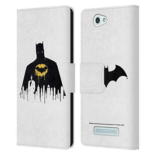 Head Hülle Designs Offizielle Batman DC Comics Alter Ego Stadtbild 2 Dualitaet Leder Brieftaschen Handyhülle Hülle Huelle kompatibel mit Wileyfox Spark/Plus