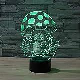 DCLINA Seta 3D Lámpara luz Nocturna 7 Cambio Color LED Táctil USB Mesa Regalo Niños Juguetes Decoración Decoraciones Navidad Regalo San Valentín Regalo cumpleaños
