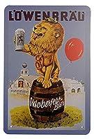 レーベンブロイビール メタルポスター壁画ショップ看板ショップ看板表示板金属板ブリキ看板情報防水装飾レストラン日本食料品店カフェ旅行用品誕生日新年クリスマスパーティーギフト