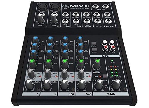 Mackie Mix 8–MIXER PROFESSIONELLER 6Eingänge für Studio, Live, Karaoke...