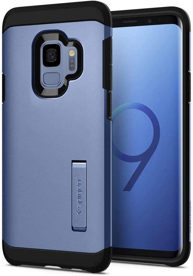Spigen Tough Armor Designed for Samsung Galaxy S9 Case (2018) - Coral Blue