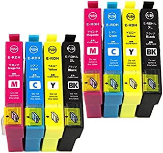 むさしのメディア EPSON(エプソン) RDH-4CL (4色セットx2) 互換インクカートリッジ BK/C/M/Y)