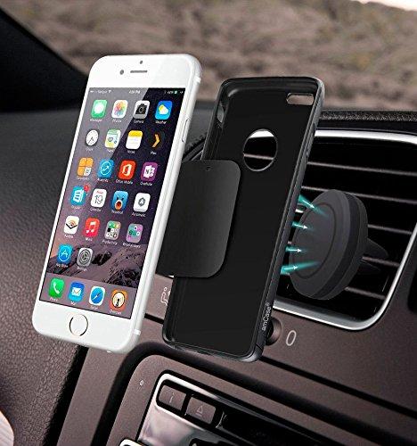Autohalterung, Case Industry Handy KFZ Autohalterung [Air Vent Magnetic] 360° Handy KFZ Autohalterung Magnet Alcatel One Touch POP Star 4g Magnetische KFZ Halterung [Quad Neodymium Core] Auto-Halterung Handy-Halter Handy KFZ Halterung