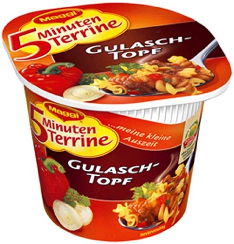 Maggi 5 Minuten-Terrine Gulaschtopf, 8er Pack  (8 x 61 g)
