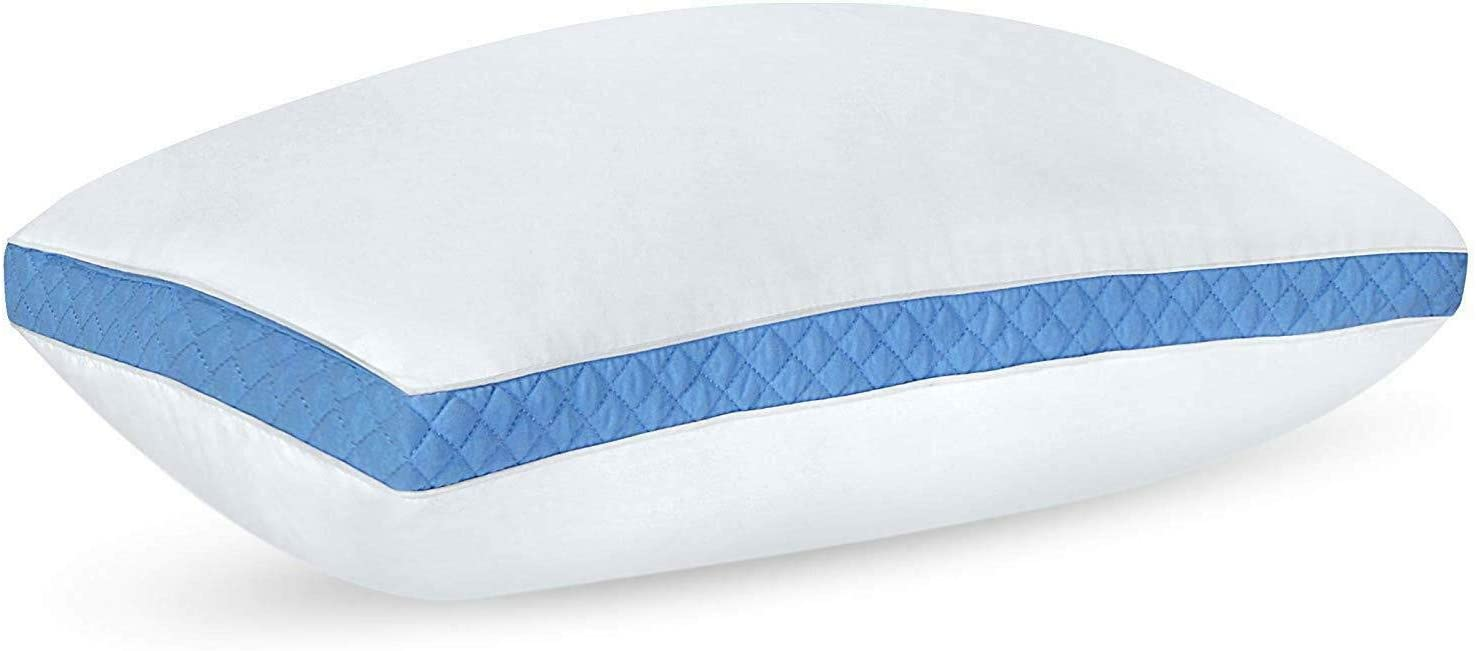 King Size 2 登場大人気アイテム Pack Bed Pillows Side Back Quilted Gusseted Sleepers 正規取扱店