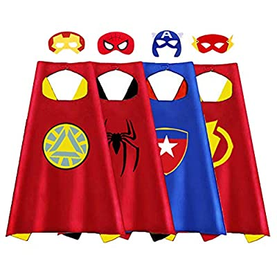 Birthday Gifts for 6 Year Old Boys - Party Supplies for Kids, Treasure Store Superhero Dress up Costumes Toys for 3-7 Year Old Boys Gifts for 3-7 Year Old Boys Girls Toddlers Costumes 4 Pcs