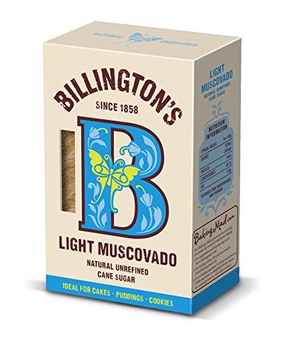 NT# Billington's Light Muscavado Sugar 500g Billington Light Light Muscovado Sugar è il migliore zucchero morbido marrone chiaro, con un caldo colore miele e un sapore di Fudge cremoso.