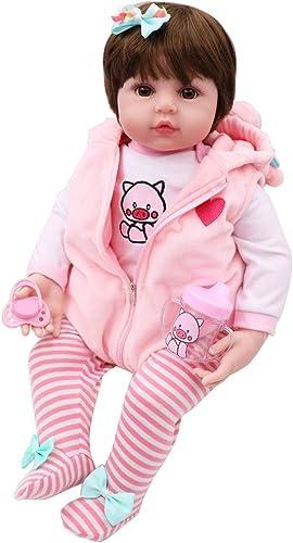 bulingLU - 19in Realistische Reborn Puppe Weißem Silikon Vinyl Neugeborenen mädchen Prinzessin Lebensechte Handgemachte Spielzeug Kinder Geschenke