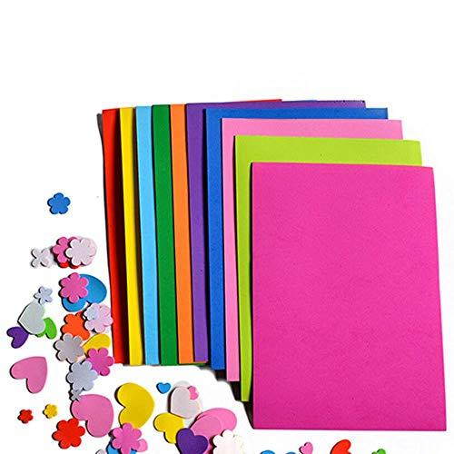 10 stks/partij Laagste Prijs 10 kleur A4 Dikke Multicolor Spons Foam Paper Fold scrapbooking Paper Craft DIY, 10st Multicolor