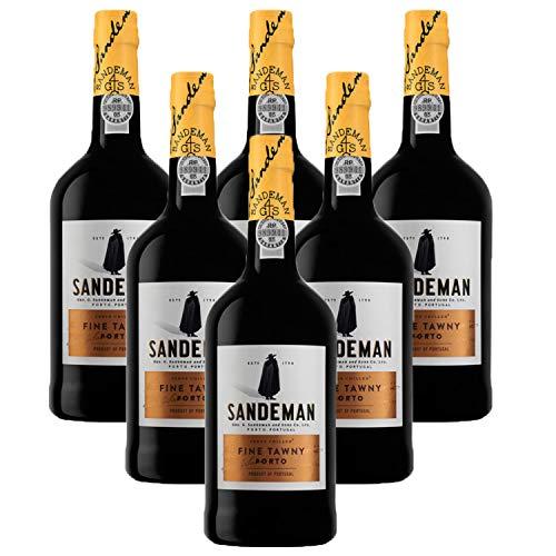 Vino de Oporto Sandeman Tawny - Vino Fortificado - Paquete de 6