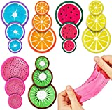 ✔ BRIGHT COLORFUL 18PCS MULTI SIZE SET: 18 Piece crystal fruit slime set features (6) each of (3) different size tubs. Keep all of them for yourself or buy a set or two for sharing among friends, family or for use in goodies bags as party favors! ✔HE...