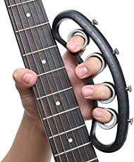 FOVERN1 Guitar Finger Expansion, Finger Sleeve Finger Force Span Practing Trainer TooL Training Bands for Guitar Bass Piano Finger Speed System Musical Instrument Accessories