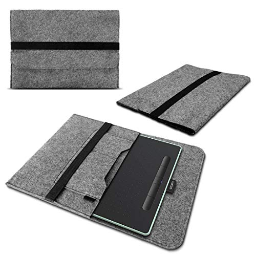 Schutzhülle für Wacom Intuos S Sleeve Tasche Hülle Filz Case Grafiktablett Cover Grau