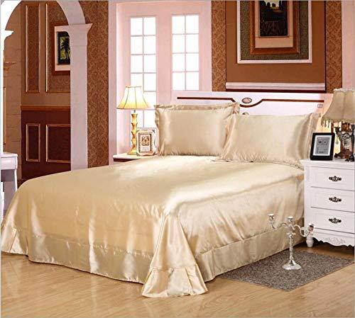 duvet,1 / 3pcs Color sólido Textiles para el hogar Sábanas planas de plata gris Ropa de cama de seda imitada Sábanas Fundas de almohada para Twin Queen King Size-norte_Solo fundas de almohada 2 pieza