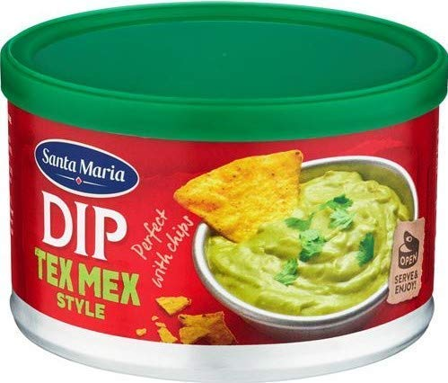 Santa Maria Dip Tex Mex Sauce mit Guacamole-Geschmack Mexikanische Zubereitung mit Avocado und Chili-Pfeffer - 1 x 250 Gramm