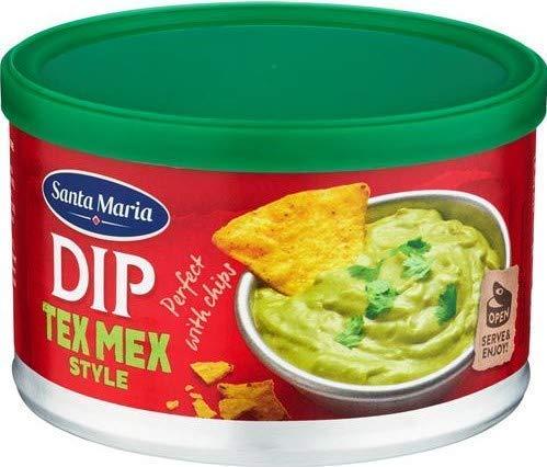 Santa Maria Dip Tex Mex Salsa al Gusto di Guacamole Preparazione Messicana a Base di Avocado e Peperoncino - 1 x 250 Grammi