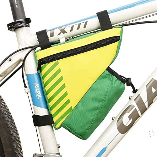 Bolsa de teléfono táctil delantero de la bicicleta MTB Bike Bike Ciclismo Bolsa de Móvil Bolsa Bolsa delantera de 5.7 pulgadas Bolsa de teléfono móvil Accesorios de bicicleta ( Color : 81024 yellow )