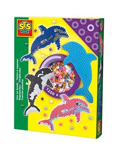 SES Creative 06114 - Bügelperlenset, Delphin