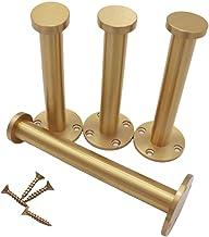 Messing meubelpoten, metalen bankpoten, tafelpoten, kastpoten, oppervlak polijsten, verstelbaar 0-1 cm/0-0,4 inch, laadver...