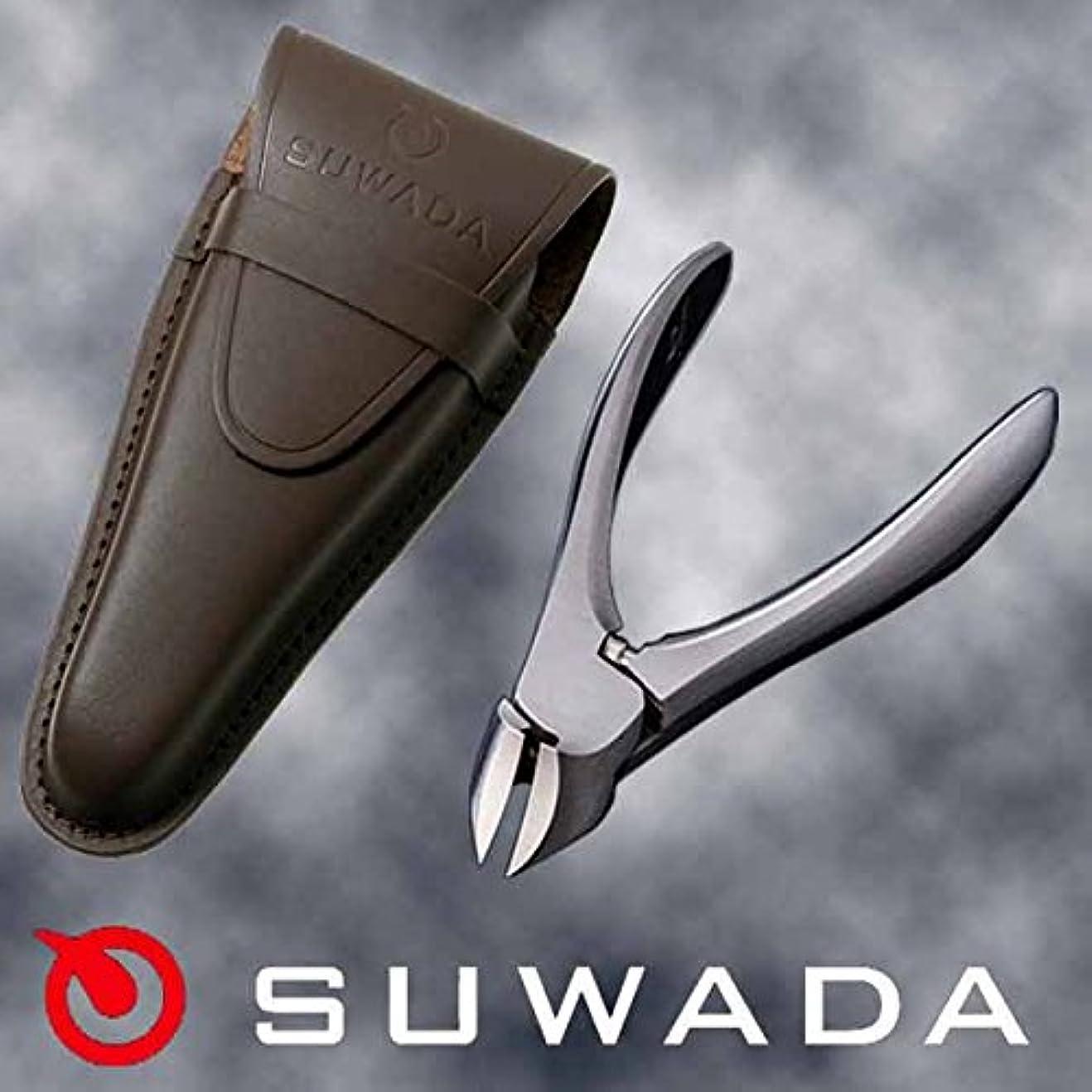 ポインタ陸軍素晴らしい良い多くのSUWADA爪切りクラシックL&ブラウン(茶)革ケースセット 特注モデル 諏訪田製作所製 スワダの爪切り