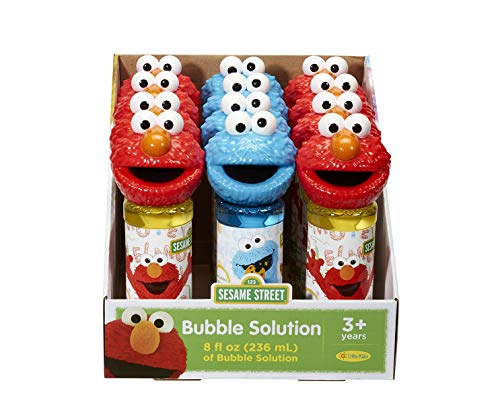 Little Kids Sesame Street Elmo & Cookie Monster 8oz Bubbles & Wand Character Party Favor Pack, 12 Pack
