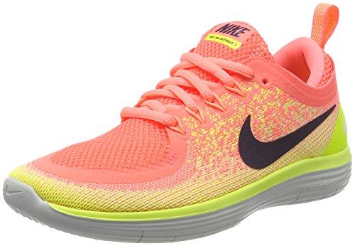 Nike Free RN Distance 2, Zapatillas de Running para Mujer, Multicolor (Lava Glow/Dark Raisin-Barely Volt-Volt-Sun L), 36.5 EU