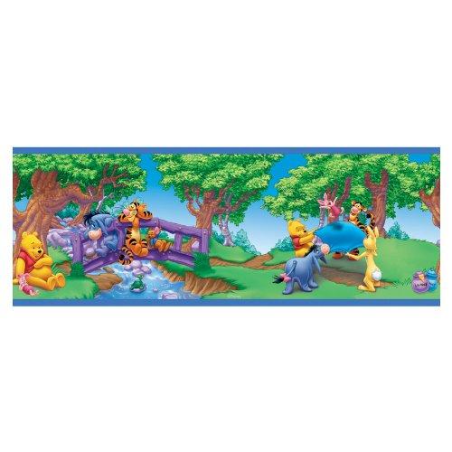 Sanitas - Cenefa de papel pintado autoadhesivo (12,7 cm), diseño de Winnie The Pooh