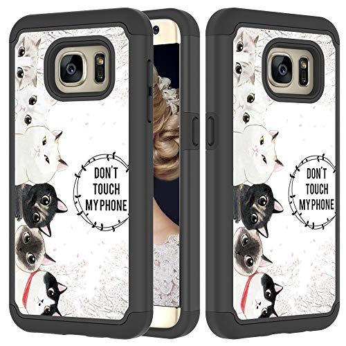 Xifanzi 360 - Funda Protectora Completa para Samsung Galaxy A5 2017 Funda Samsung Galaxy A5 2017, Gatito múltiple, Samsung Galaxy S7 Edge