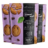 Sweetwell Chocolate Chunk Cookies, Sugar-Free, Keto-Friendly Snack with Collagen, Stevia-Sweetened Cookie Pack (3-Pack)