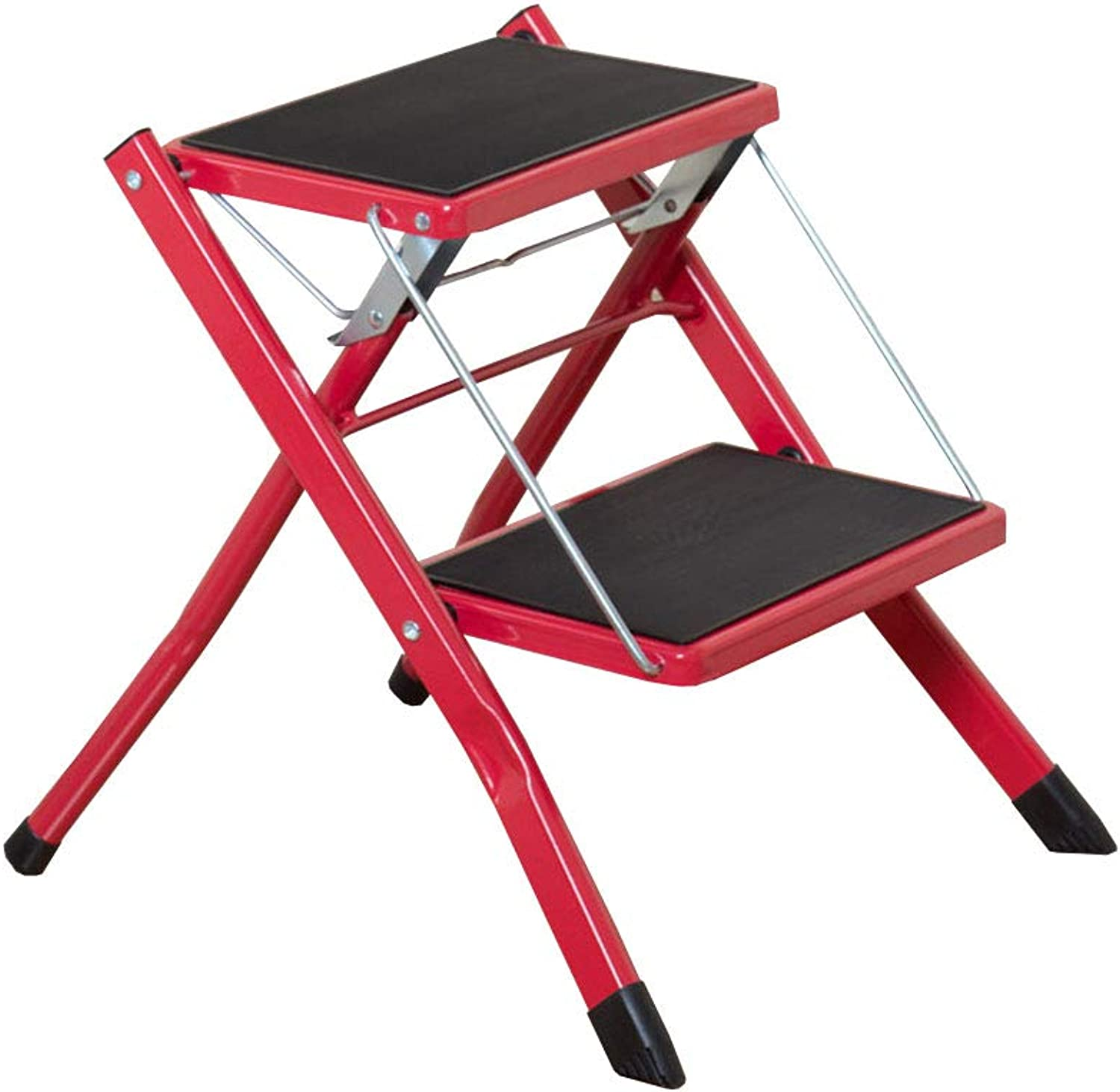 Folding 2 Step Ladder Stool Stepladder Step Stool with Non-Slip Pedal for Household Work Use(42  48  41.5cm)